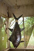 Handcrafted Hanging Tuna Fish Coastal Nautical Fishing Halabut Recycled Metal