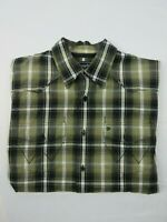 Wrangler Mens Shirt Size S Long Sleeve Button Up Regular Fit Brown Plaid