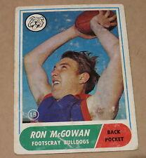 SCANLENS 1969 VFL AFL TRADING CARD #19 FOOTSCRAY RON McGOWAN
