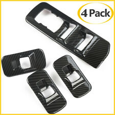 Carbon Fiber ABS Car Window Lift Switch Panel Cover Trim For Ford F150 2015-2020