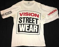 Vision Street Wear shirt Vintage 1987 Original long sleeved Real Skateboard OG
