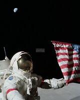 EP-509 8X10 NASA PHOTO NEIL ARMSTRONG APOLLO 11 ASTRONAUT FIRST WALK ON MOON
