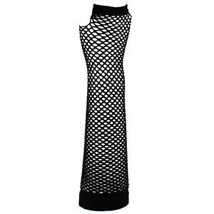 Zac's Alter Ego® Extra Long Fishnet Fingerless Gloves Fancy Dress 80's