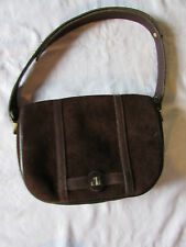 sac vintage jacques esterel daim marron chocolat