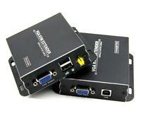Video Extender VGA und USB 300m UTP Netzwerkkabel Twisted Pair KVM Verlängerung