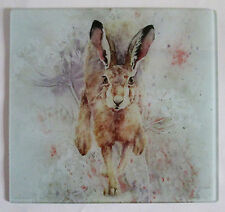 Hare , glass chopping board, pot stand, placemat, contemporary picture