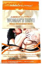 Woman's Drive Sexual Enhancement PATCH Female Sex Libido Supplement Absonutrix