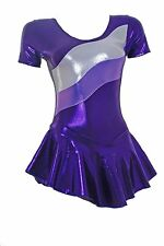 Skating Dress- PURPLE SHEEN - SALE - SIZES 2 AND 2A ONLY