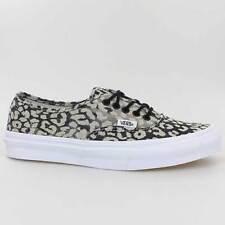 Vans zapatos authentic slim washed Leopard beige negro Black vxg6dvf