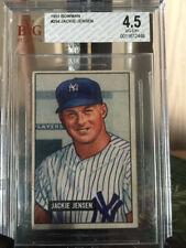 1951 Bowman Baseball Card HIGH #254 Jackie Jensen Rookie Yankees VG-EX+