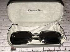 90s vintage chrome & black rectangular frame Christian Dior optyl lcm sunglasses