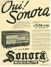 Publicité ancienne poste de radio oui Sonora 1938 issue de magazine