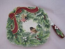 Fitz and & Floyd Santa's Forest Friends Snack Plate with Spreader MINT in Box