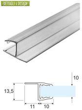 3 mt - Guarnizione trasparente TuttoVetro con aletta rigida per vetro 10mm
