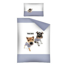 The Dog Pups Lovely Baby Toddler Bedding Set 100% COTTON Cot Cotbed Animal Blue