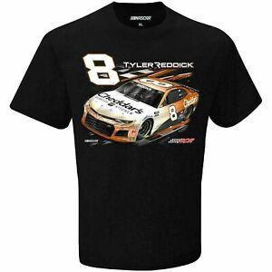 Tyler Reddick # 8 Nascar 2021 Checkered Flag One Sided Black T-Shirt  2XL