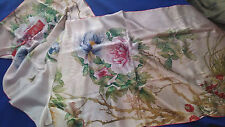 "SCARF SHAWL WOMEN'S LARGE SILK 8"" x 20"" FLORAL BRAND NEW IN BOX GORGEOUS WOW!"