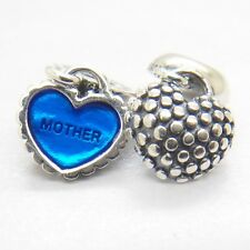 NEW A PAIR S925 PANDORA CHARM MOTHER/SON PIECE OF MY HEART #791152EN08