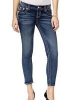 Miss Me Womens Jeans Blue Size 27x26 Signature Ankle Skinny Leg Stretch $99 986