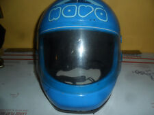 Vintage  Blue NAVA MADE IN ITALY FULL FACE XL  MOTORCYCLE HELMET **FREE SHIP**