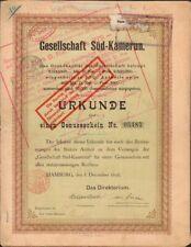 GESELLSCHAFT SÜD-KAMERUN (CAMEROUN) (A)