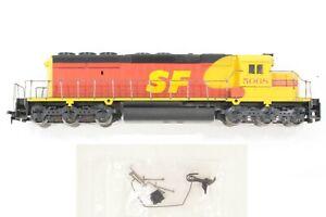 "HO Athearn Santa Fe ""Kodachrome"" SD40-2 Powered AWP Locomotive, Tested"
