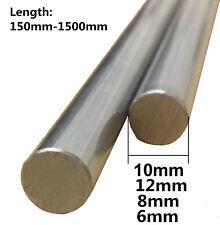 3D Printer 6mm/8mm/10mm/12mm Chrome Steel Smooth Rod-Upto 1.5m Linear Rail shaft