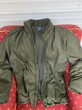 Ralph Lauren Polo Men's XLT Jacket Coat Extra Large Tall leather zip olive Green