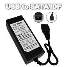 External 2A 12V 5V USB to IDE+SATA Power Supply Adapter HDD/Hard Drive/CD-ROM