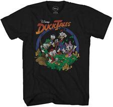 Ducktales Money Scene Scrooge McDuck Adult Tee Graphic T-Shirt for Men Tshirt
