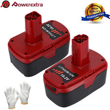 2 Pack 19.2V 4.0AH Li-Ion Battery for Craftsman C3 11375 11376 Cordless Drill