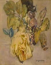 Mackintosh Rennie Charles Winter Rose Print 11 x 14  #4980