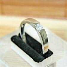 Zirkon Diamant-Brillant-Imitat Herren Damen Ring WeißGold 18KGP(750) Gr 58 Ø18,4