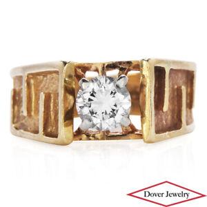 Estate Diamond 14K Gold Elegant Solitaire Ring NR