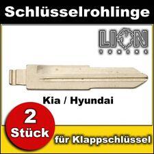 Schlüsselrohling für Klappschlüssel Zentralverriegelung Kia, Hyundai