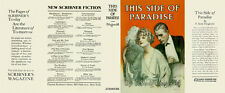 Fitzgerald THIS SIDE OF PARADISE facsimile  jacket for 1st ed/early (NO BOOK)