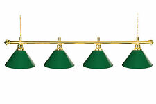 "72"" Pool Table Light - Billiard lamp With Metal Green Shades for 9' Table"