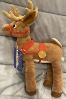 "Hallmark The Polar Express 14"" Christmas Reindeer Plush Stuffed Animal New"