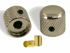 NEW TELECASTER STYLE GUITAR DOME KNOBS NICKEL (SET OF 2)