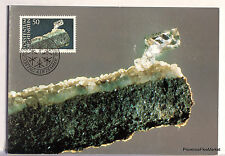 LIECHTENSTEIN  N° 92 SCEPTRE DE QUARTZ  Carte Postale Maximum  LIE12
