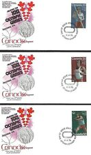 Canada 1975 3 First Day Covers Olympic Games In Montreal