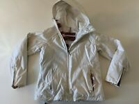 BURTON WOMEN'S White Snowboarding Jacket Hooded Size Medium