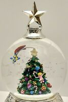 Wallace Christmas Tree Musical Water Globe Silverplated Plays Oh! Christmas Tree