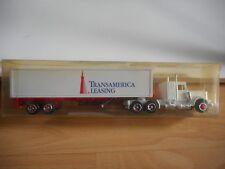 "Majorette US Truck + Trailer ""Transamerica Leasing"" in White in Box"