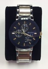 BULOVA Men's Classics Two-Tone Stainless Steel Blue Dial WATCH 98C123