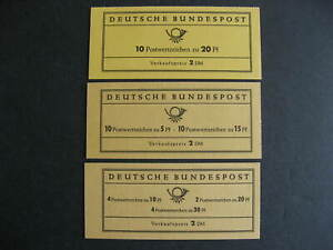 Germany 3 booklets with MNH Sc 952a and panes of 10 of 824, 904, 905