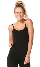 Betty Basics Women's Tina Singlet Cotton Fitted Elastane Tees Tshirts Black 10