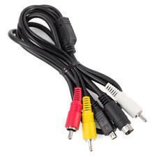 AV Cable for Sony VMC-15FS S-Video RCA DCR-HC26 HDR-CX100 HDR-SR12 DCR-DVD610