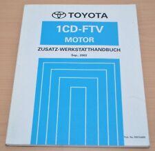 Toyota Avensis Motor 1CD-FTV 2003 CDT 250 Zusatz Motor Werkstatthandbuch