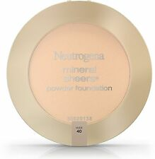 Neutrogena Mineral Sheers Powder Foundation, Nude [40] 0.34 oz (Pack of 7)